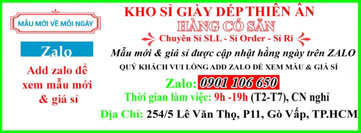 Thiên Ân - Kho giày dép giá sỉ tận gốc tại TP.HCM